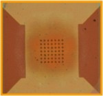 Optical image of Protochips heating stage showing the heating area
